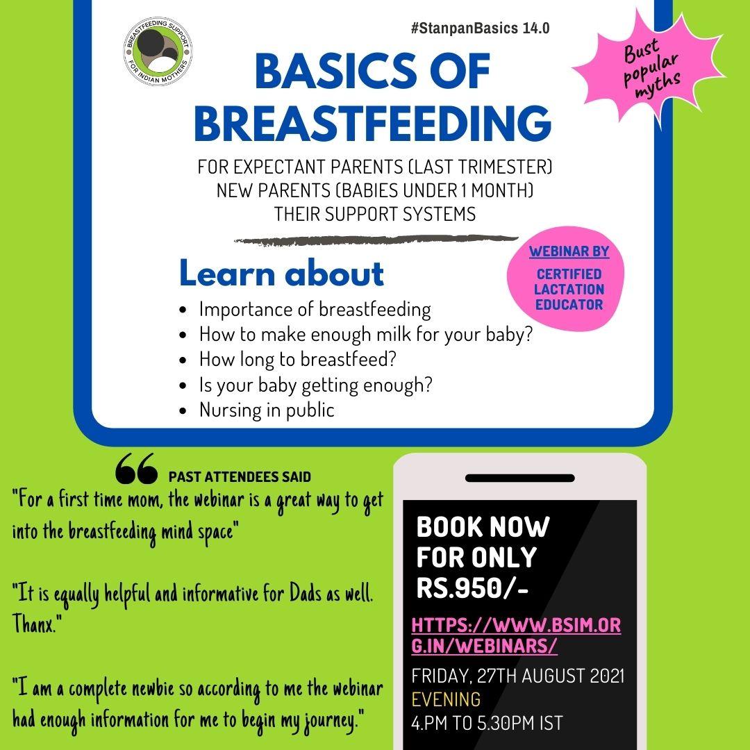 Basics of Breastfeeding 27.8.2021